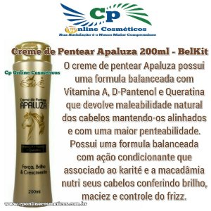 Finalizador Leave-In Apaluza 200 ml - Creme de Pentear - Belkit