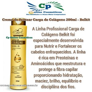 Finalizador Leave-In Carga de Colágeno 200 ml - Creme de Pentear - Belkit