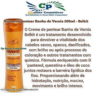 Finalizador Leave-in Banho de Verniz 200 ml - Creme de Pentear - Belkit