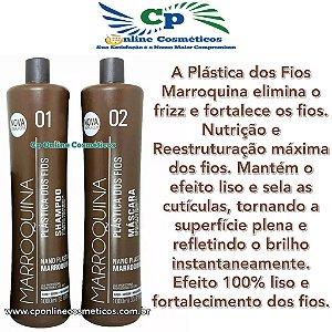 Kit Plástica dos Fios Marroquina Shampoo - Passo 1 + Ativo - Passo 2 - Embalagem de 1L cada