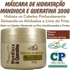 Máscara de Hidratação Capilar Mandioca e Queratina 300 g - Belkit