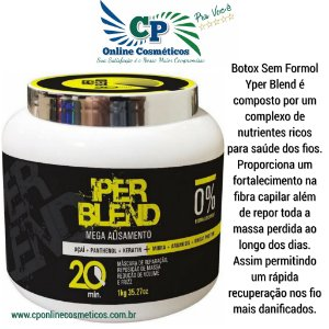 Botox Sem Formol Yper Blend - Mega Alisamento Capilar 1kg