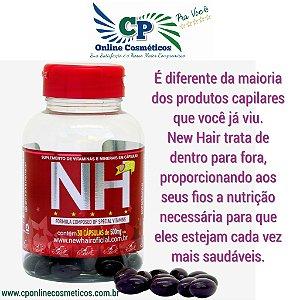 Pote New Hair 30 Cápsulas - Cresce Cabelo e Unha