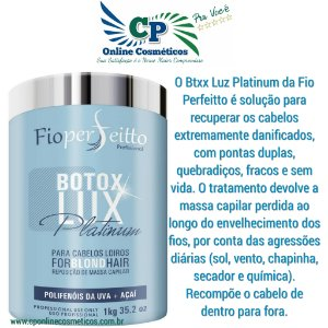 Botox Lux Platinum 1kg - Fioperfeito ForBlond Hair Matizador - Profissional