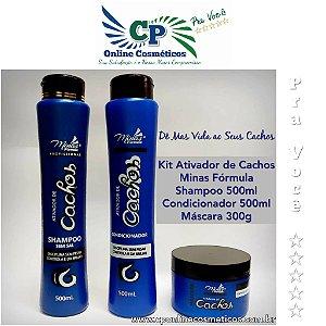 Kit Ativador de Cachos - Com Máscara de 300g - Minas Fórmula