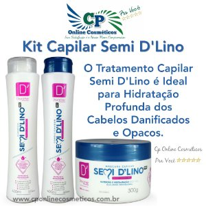Kit Capilar Semi D'Lino - D'oura Hair