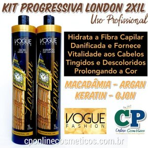 Kit Escova Progressiva London 2x1L - Vogue Fashion