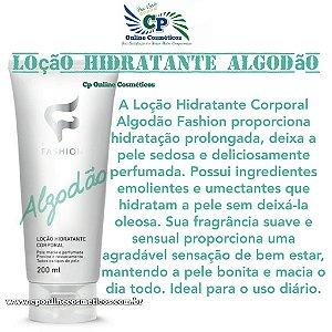 Loção Hidratante Corporal Algodão 200ml - Fashion