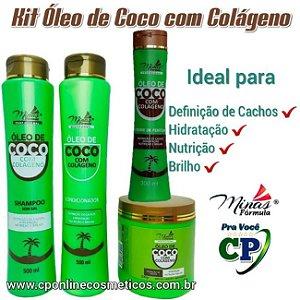 Kit Completo Óleo de Coco com Colágeno - Minas Fórmula