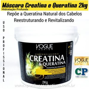 Máscara Creatina e Queratina 2kg - Vogue Fashion