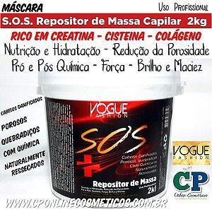 Máscara S.O.S Repositor de Massa Capilar 2kg - Vogue