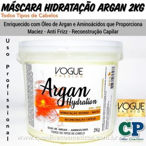 Máscara Argan Hydration 2kg - Vogue Fashion