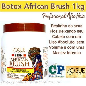 Botox Capilar African Brush 1kg - Vogue Fashion