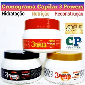 Cronograma Capilar Powers 500g Cada - Vogue Fashion