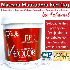 Máscara Matizadora Red 1kg - Vogue Fashion
