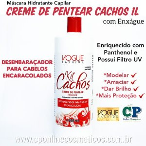 Creme de Pentear Cachos 1L - Vogue Fashion