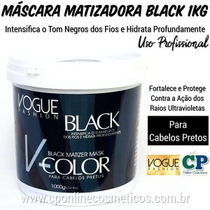 Máscara Matizadora Black 1kg - Vogue Fashion