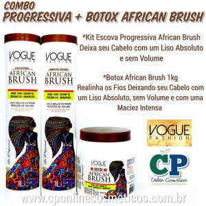 Combo African Brush Progressiva + Botox - Vogue Fashion