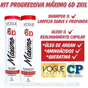 Kit Progressiva Máximo 6D 2x1L - Vogue Fashion