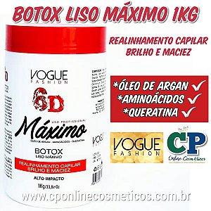 Botox Liso Máximo 6D 1kg - Vogue Fashion