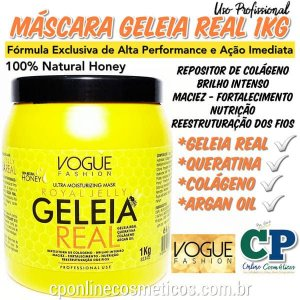Máscara Capilar Geleia Real 1kg - Vogue Fashion