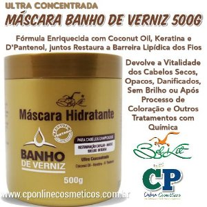 Máscara Hidratante Banho de Verniz 500g - Belkit