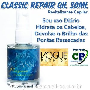 Reparador de Pontas Classic Repair Oil 30ml - Vogue Fashion