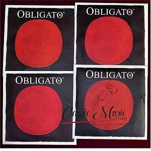 Conjunto Completo Para Violino Pirastro Obligato C/ Mi Ouro