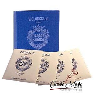 Cordas Cello Jargar Blue Medium Violoncelo Made In Denmark