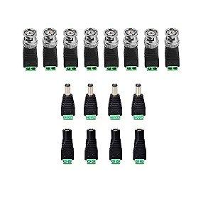 kit Conector Para 4 Câmeras