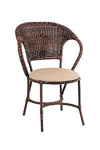 Cadeira em Alumínio Revestido e Fibra Sintética