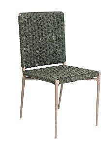 Cadeira Siena com Corda Náutica e Alumínio Pintado