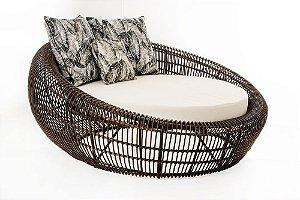 Chaise Tropical aluminio pintado e fibra sintetica D150