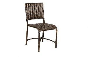 Cadeira de Alumínio Revestido e Fibra Sintética