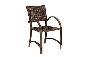 Cadeira com Braço de Fibra Sintética e Alumínio Revestido