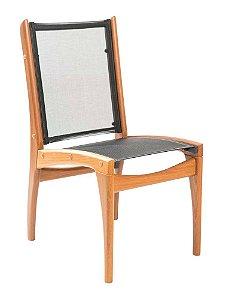 Cadeira De Madeira Cumaru com Tela Sling ISO Preto