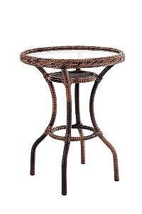 Mesa Chá Aço Galvanizado com Fibra Sintética Argila com vidro embutido D60