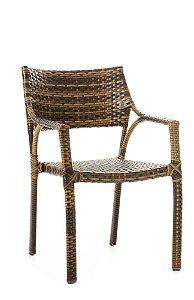 Cadeira Sandra alumínio revestido com fibra sintética argila