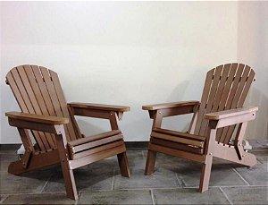 Conjunto com 2 poltronas Denver madeira Polywood