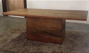 Mesa Pé Caixa madeira demolição