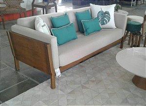 Sofa Minas madeira Taeda oregon com assento e encosto estofados