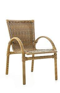 Cadeira NL aluminio revestido e fibra sintética mooca liso