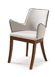 Cadeira Raia madeira Jequitibá imbuia J. com assento e encosto estofados