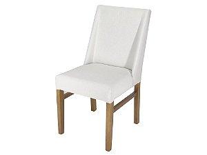 Cadeira Verti madeira Jequitibá imbuia J. com assento e encosto estofados