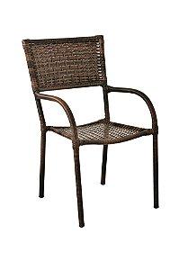 Conjunto com 1 mesa Dallas D90 e 4 cadeiras Dallas em aço galvanizado e sintético Argila