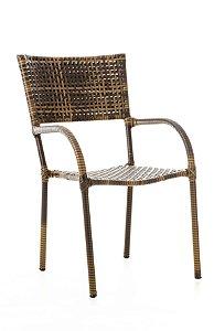Cadeira Dallas Alumínio com Fibra Sintética Trama Aberta Argila