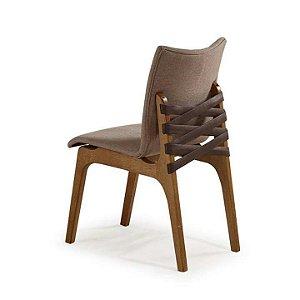 Cadeira Cinta Estofada com Tiras de Courino