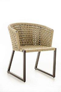 Cadeira Minas Alumínio Pintado com Corda Náutica