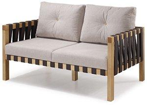 Sofa Tirante 2 lugares Estofado com Tiras de Courino