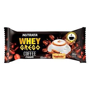 Whey Grego Bar Coffee Cream 40g - Nutrata